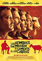 Los hombres que miraban fijamente a las cabras Poster